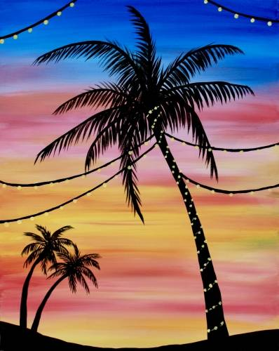 A Pretty Palm Tree paint nite project by Yaymaker