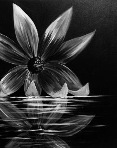 A Flower Reflection paint nite project by Yaymaker