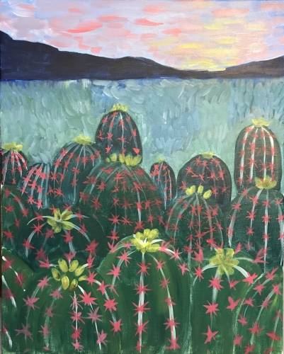 A Desert Bloom paint nite project by Yaymaker