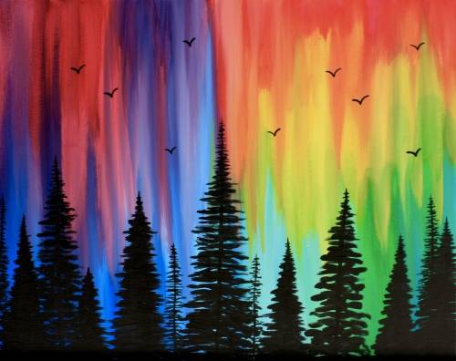 A Bright Forest paint nite project by Yaymaker