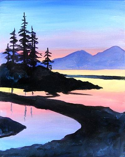 A Peaceful Pines paint nite project by Yaymaker
