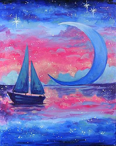 A Sailing in a Dream paint nite project by Yaymaker