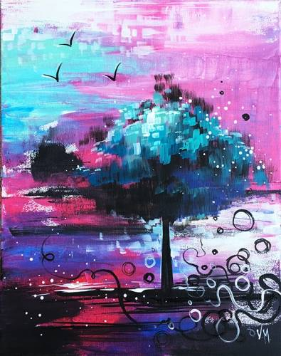 A Where Magic Lives paint nite project by Yaymaker