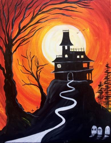 A The Haunted Mansion paint nite project by Yaymaker