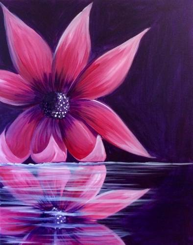 A Flower Reflection II paint nite project by Yaymaker