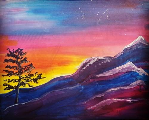 A Rainbow Mountain paint nite project by Yaymaker