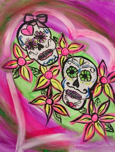 A Black Light Eternal Sweethearts paint nite project by Yaymaker