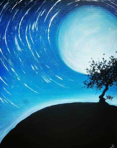 A Star Trail paint nite project by Yaymaker