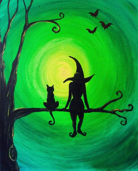 A Wicked Night paint nite project by Yaymaker