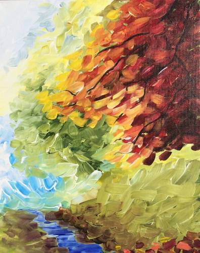 A Autumn in Abstract paint nite project by Yaymaker