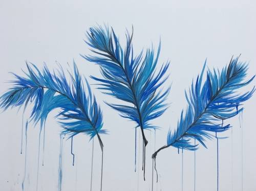 A Feather Blues paint nite project by Yaymaker