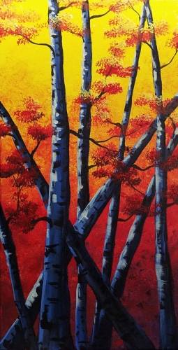 A Birch Please 12 x 24 paint nite project by Yaymaker