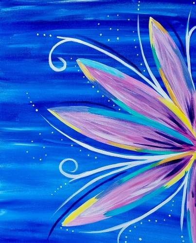 A Pretty Pretty Petals paint nite project by Yaymaker