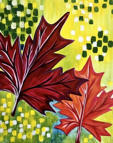 A When Fall Leaves paint nite project by Yaymaker