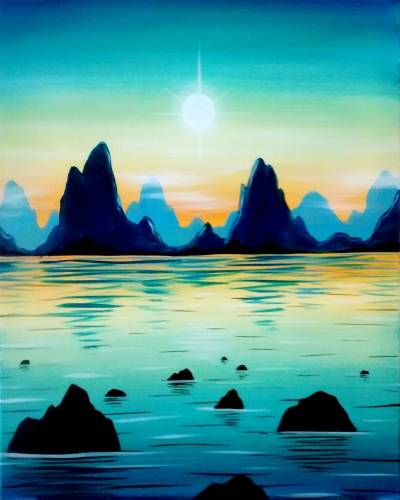 A Rock Island Sea paint nite project by Yaymaker