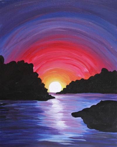 A Magic at Sunset paint nite project by Yaymaker