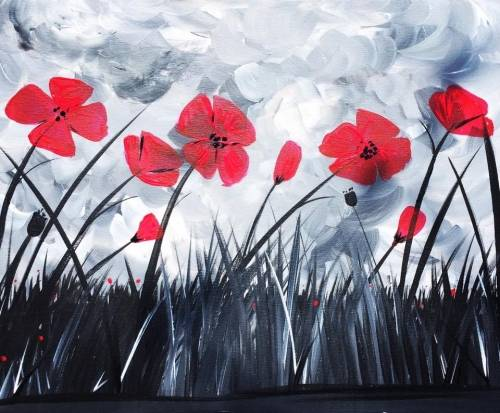 A Flowers of Rememberance paint nite project by Yaymaker