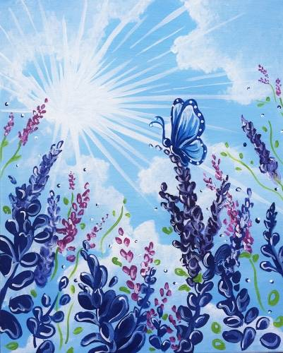 A Among the Lavender paint nite project by Yaymaker