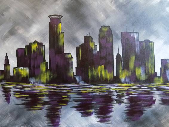 A Bleed Purple  Gold paint nite project by Yaymaker