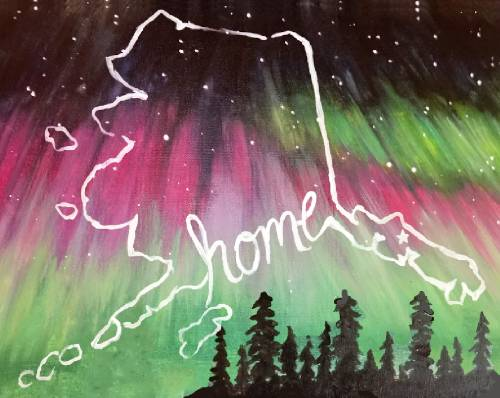 A AK is Home II paint nite project by Yaymaker
