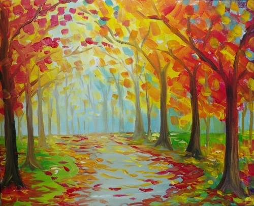 A Autumn Path IV paint nite project by Yaymaker