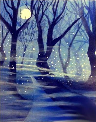 A Twilight Fireflies paint nite project by Yaymaker