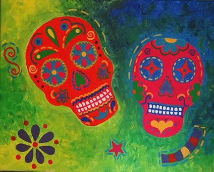 A Cinco De MayoDias De Los Muertos paint nite project by Yaymaker