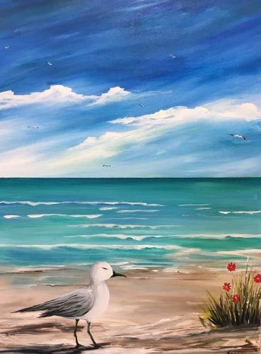 A Beach Walker II paint nite project by Yaymaker