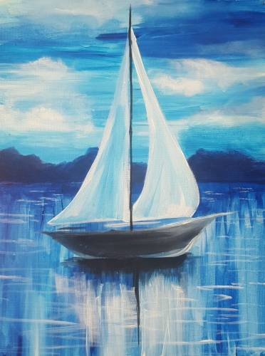 A Abstract Sailing paint nite project by Yaymaker