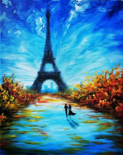 A Stroll Through Paris paint nite project by Yaymaker