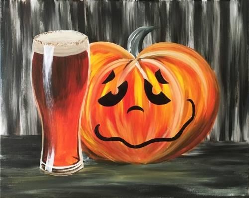 A Drunken Pumpkin paint nite project by Yaymaker