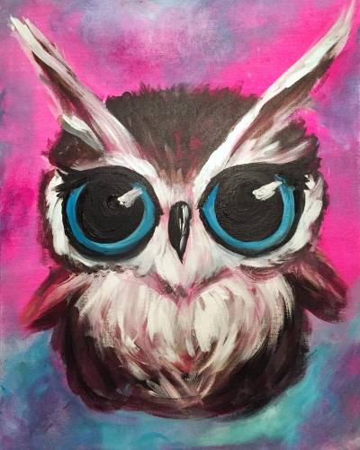 A Owl Be Cute paint nite project by Yaymaker