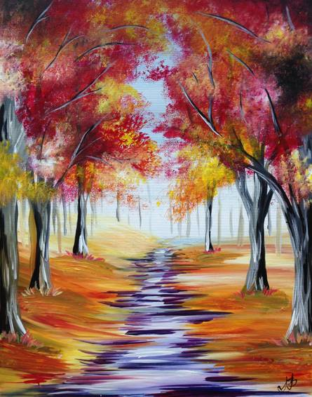 A Autumn Path V paint nite project by Yaymaker