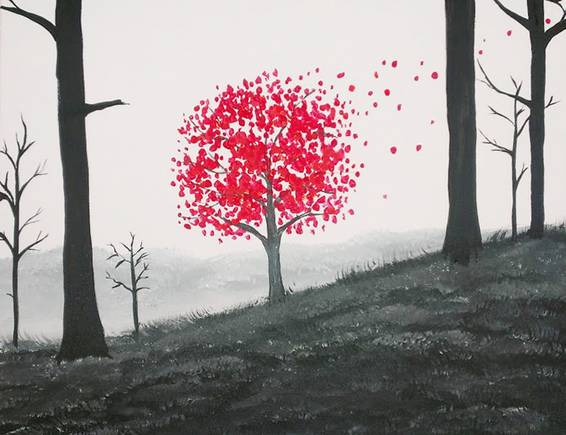 A Red Fall Hill paint nite project by Yaymaker