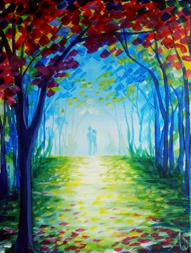A One Fall Afternoon paint nite project by Yaymaker