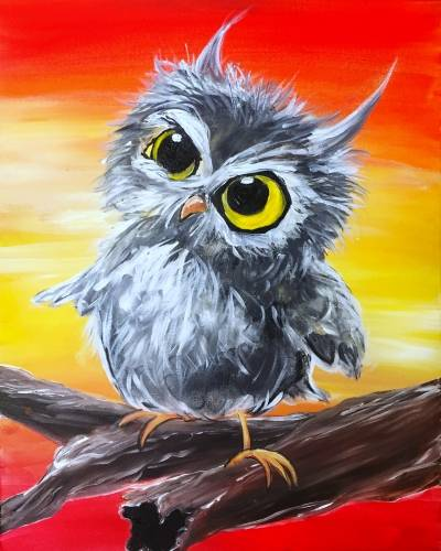 A Owl Fall Down paint nite project by Yaymaker