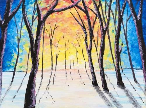 A Sunrise Woods paint nite project by Yaymaker
