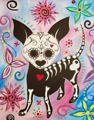 A Day of the Dog paint nite project by Yaymaker