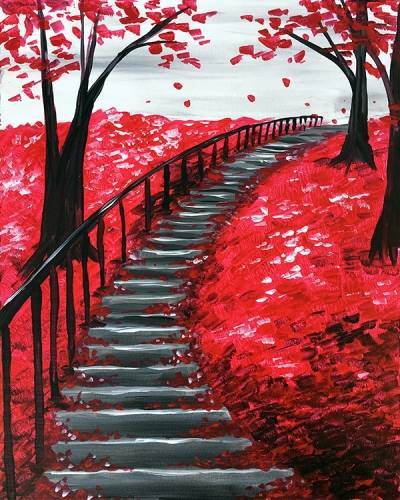 A Ascending into Fall paint nite project by Yaymaker