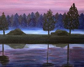 A Mists at Twilight paint nite project by Yaymaker