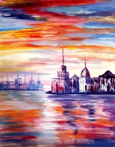 A European Reflections paint nite project by Yaymaker