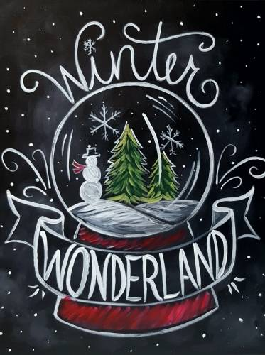 A Chalkboard Holiday paint nite project by Yaymaker