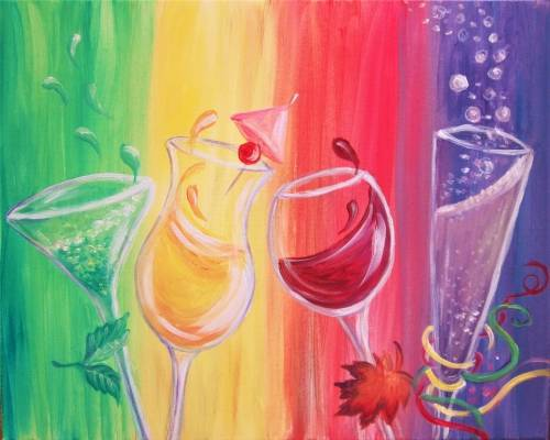 A Spirited Four Seasons paint nite project by Yaymaker