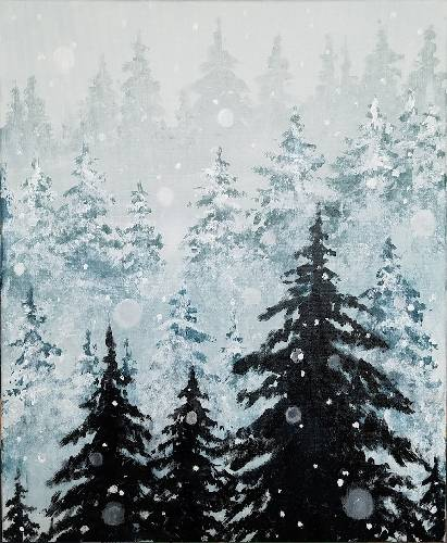 A Winter is Here II paint nite project by Yaymaker