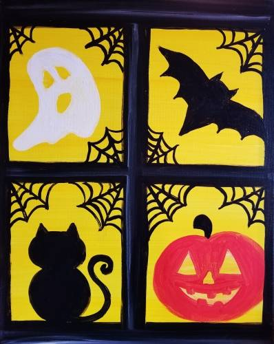 A Halloween Window paint nite project by Yaymaker