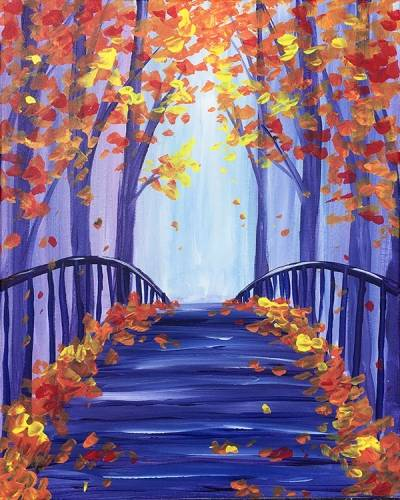 A The Bridge into Fall paint nite project by Yaymaker