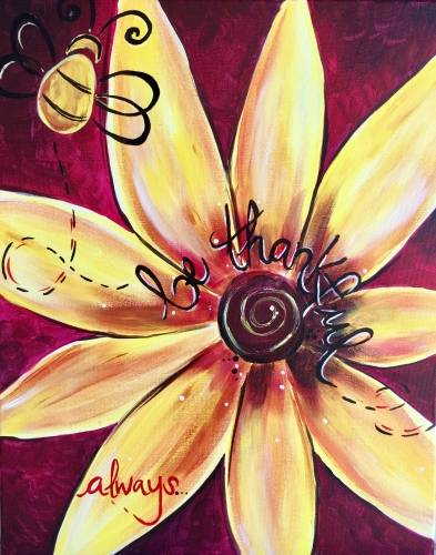 A Be Thankful Always paint nite project by Yaymaker