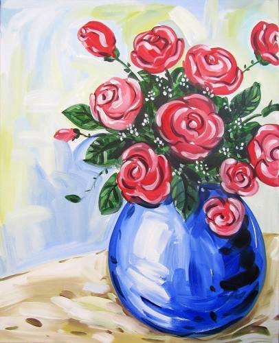 A Blossoming Roses paint nite project by Yaymaker