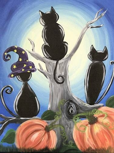 A Cat Conspiracy paint nite project by Yaymaker