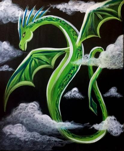 A Green Dragon paint nite project by Yaymaker